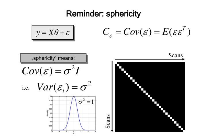 Reminder: sphericity