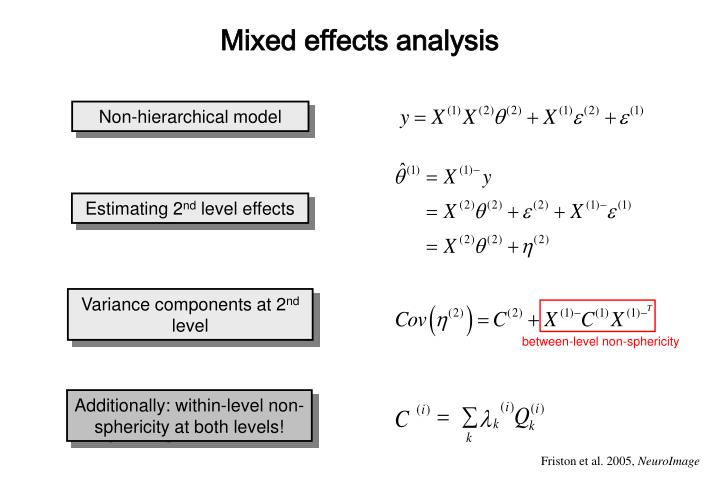 Mixed effects analysis