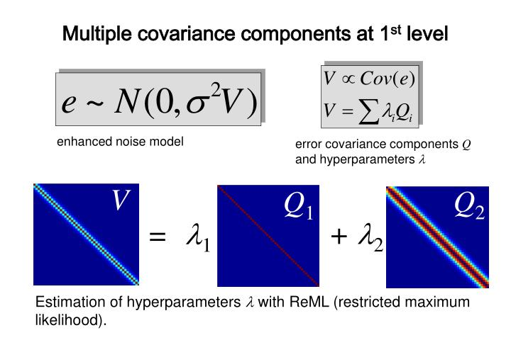Multiple covariance components at 1