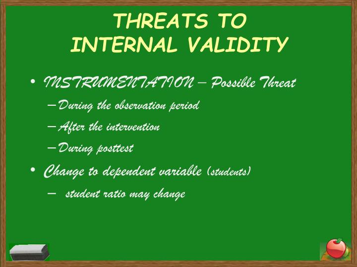 THREATS TO