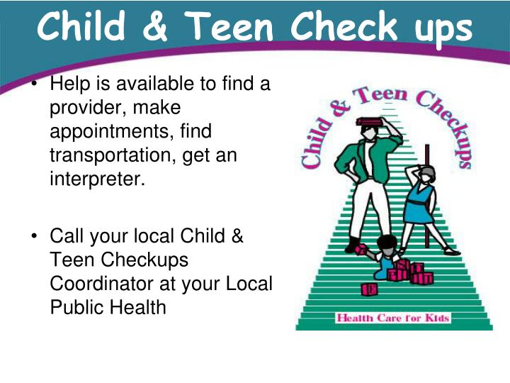 Child & Teen Check ups
