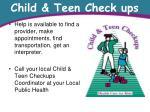 child teen check ups