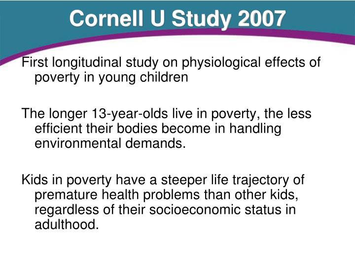 Cornell U Study 2007