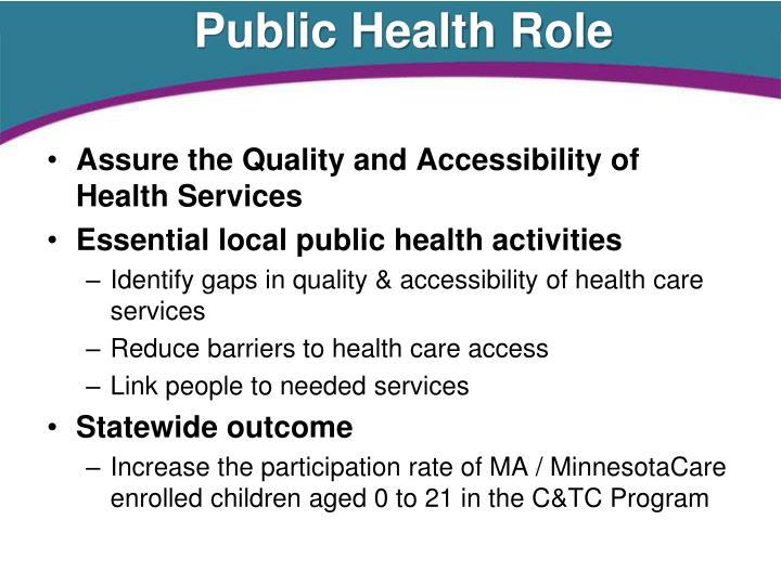 Public Health Role