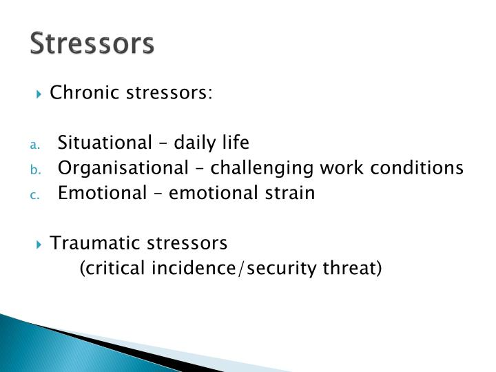 essays on stressors Stress and anxiety stress is the main cause of anxiety stress and anxiety essay stress and anxiety popular essays krispy kreme appendix.