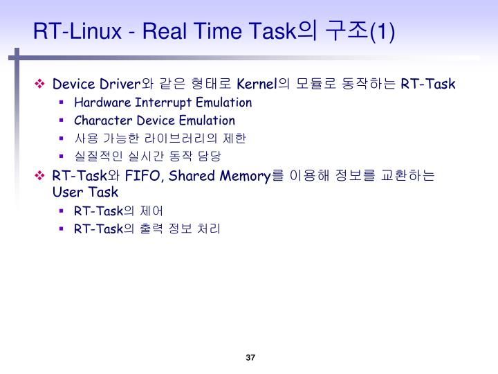 RT-Linux - Real Time Task
