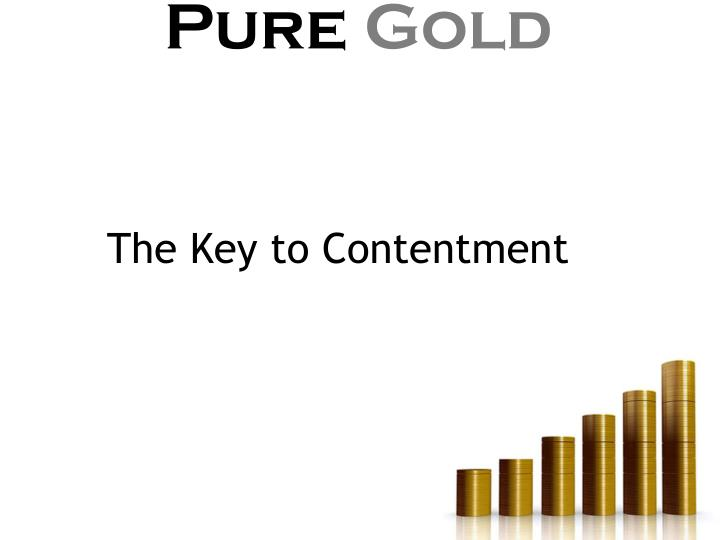 The Key to Contentment
