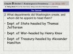 chapter 9 section 1 washington s presidency p 33 p 2271