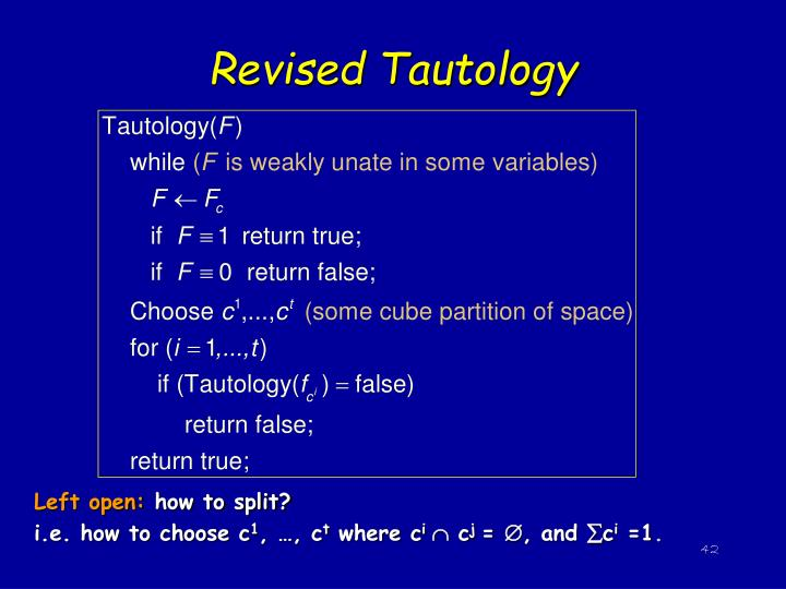 Revised Tautology