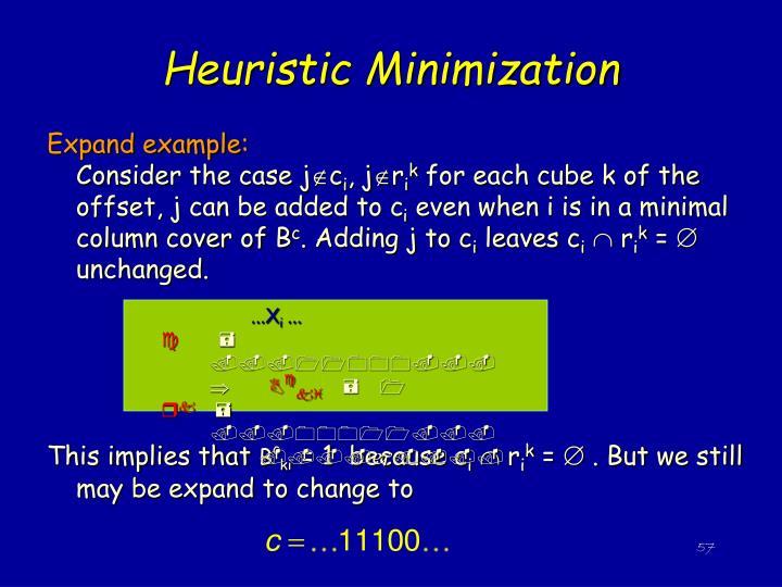 Heuristic Minimization