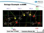 outage example w amr