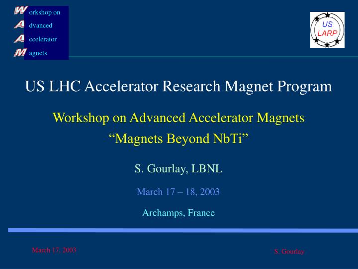 US LHC Accelerator Research Magnet Program