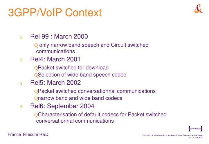 3GPP/VoIP Context