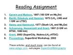 reading assignment1