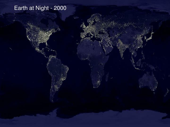 Earth at Night - 2000