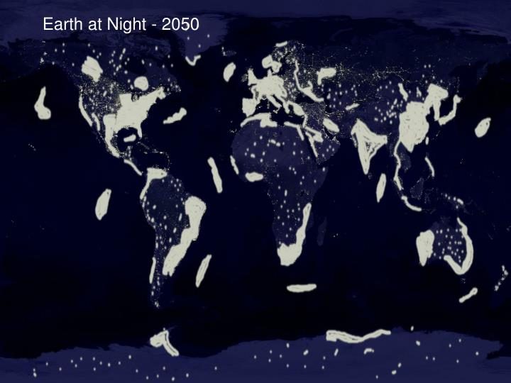 Earth at Night - 2050