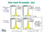 new track fit sample dca