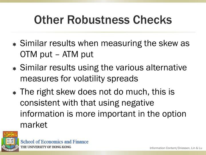 Other Robustness Checks