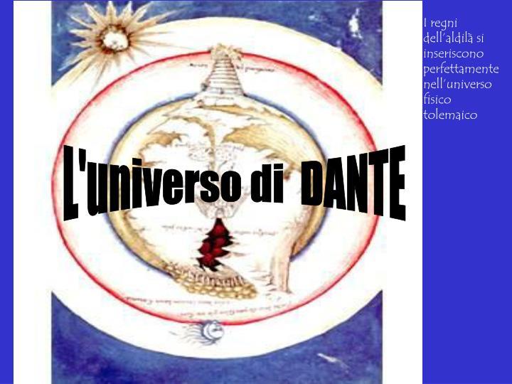 I regni dell'aldilà si inseriscono perfettamente nell'universo fisico tolemaico