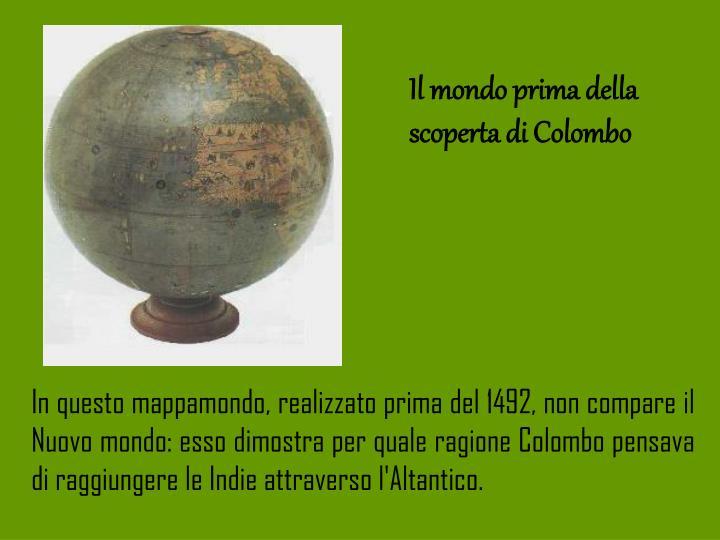 Il mondo prima della scoperta di Colombo