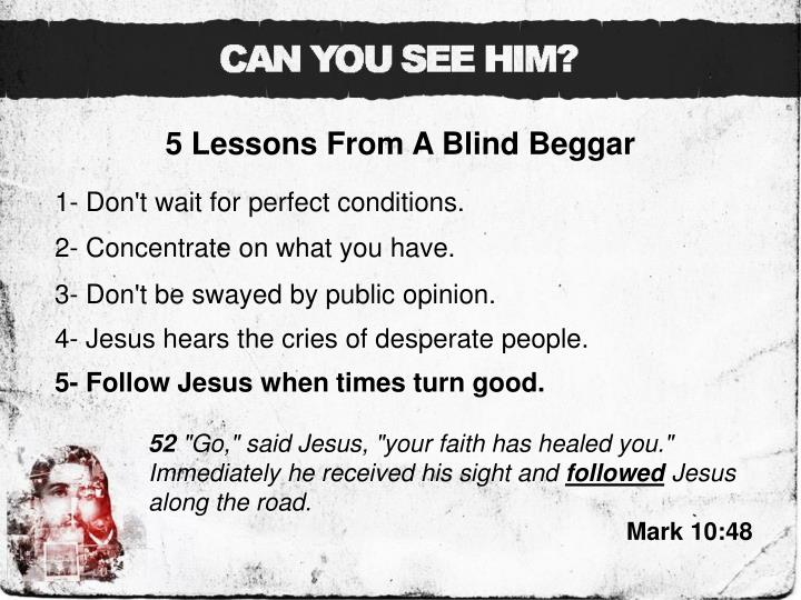 5 Lessons From A Blind Beggar