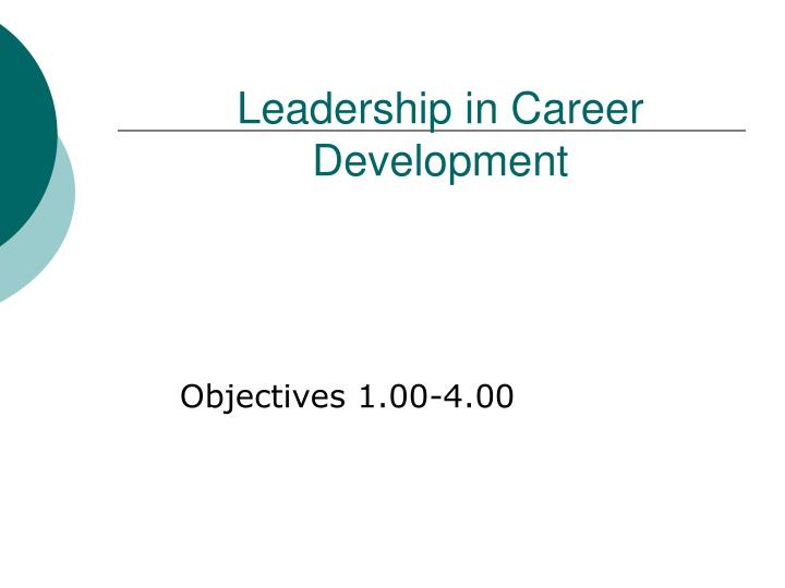 Leadership in career development