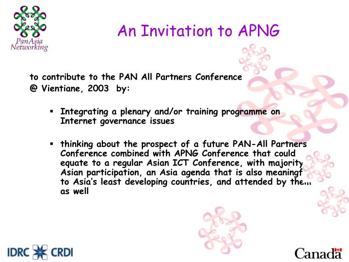An Invitation to APNG