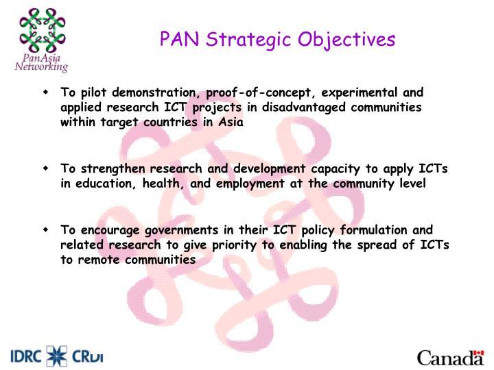 PAN Strategic Objectives