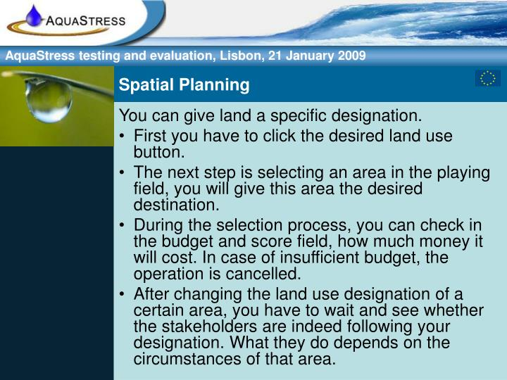 Spatial Planning