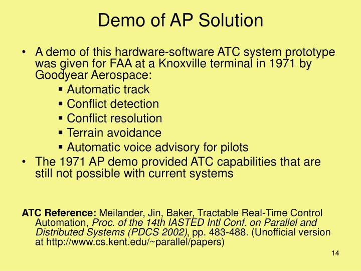 Demo of AP Solution