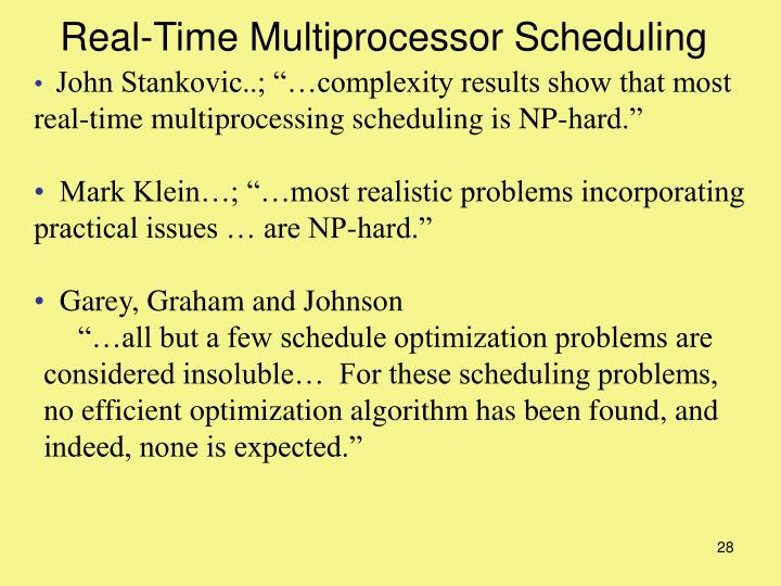 Real-Time Multiprocessor Scheduling