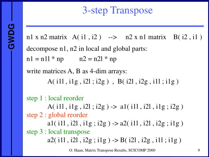 3-step Transpose
