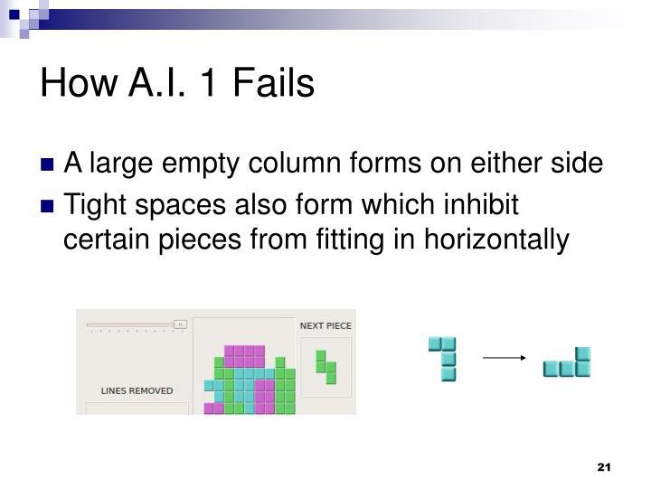 How A.I. 1 Fails