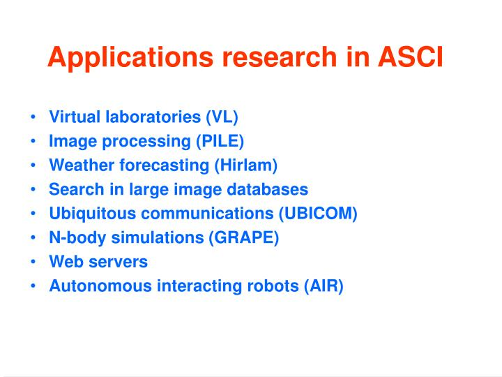 Virtual laboratories (VL)