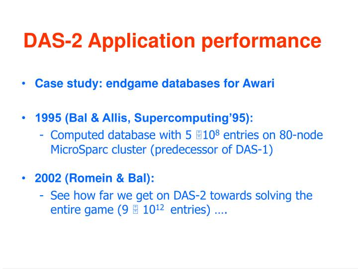 DAS-2 Application performance