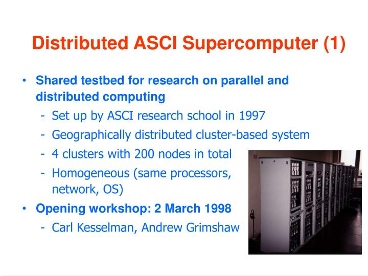 Distributed ASCI Supercomputer (1)