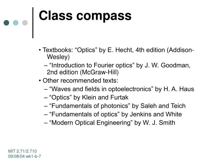 Class compass
