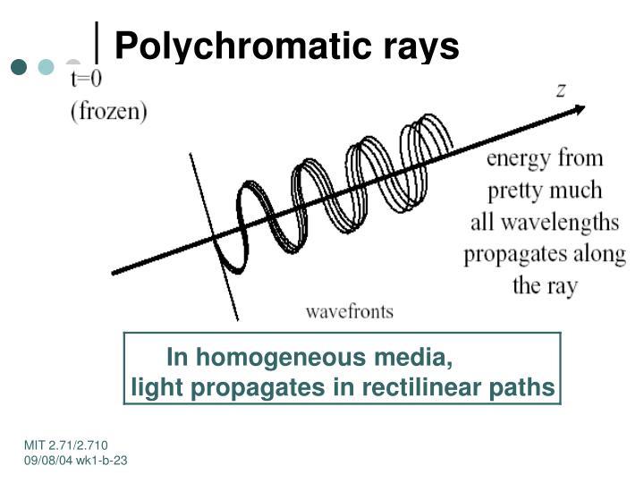 Polychromatic rays