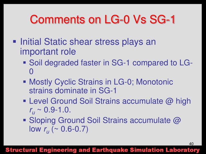 Comments on LG-0 Vs SG-1