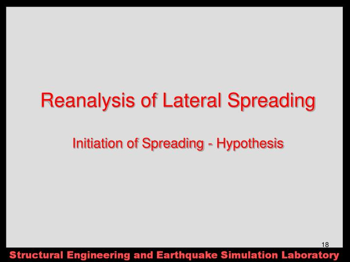 Reanalysis of Lateral Spreading