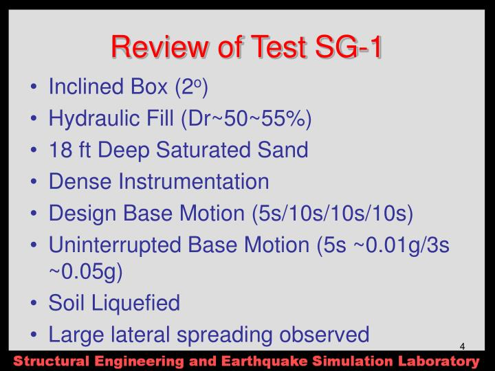 Review of Test SG-1