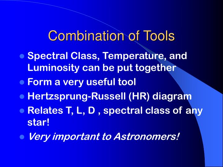 Combination of Tools