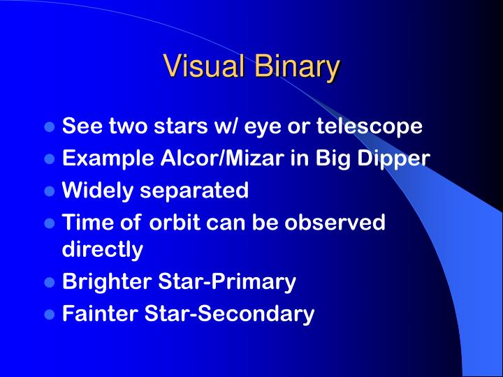 Visual Binary