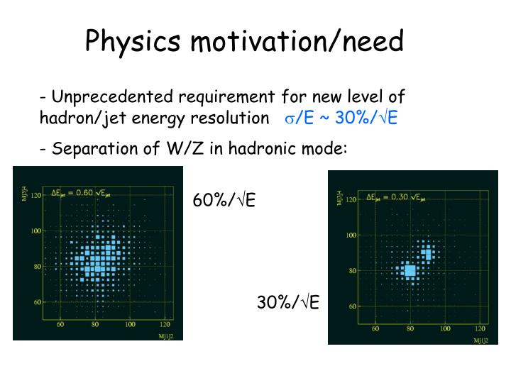 Physics motivation/need