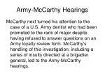 army mccarthy hearings