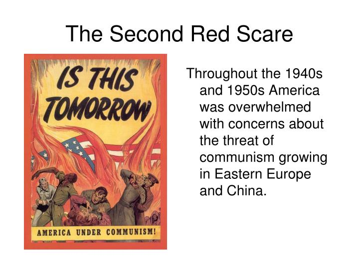 Throughout the 1940s and 1950s America was overwhelmed with concerns about the threat of communism growing in Eastern Europe and China.