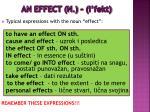 an effect n i fekt1