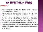 an effect n i fekt5