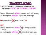 to affect fekt