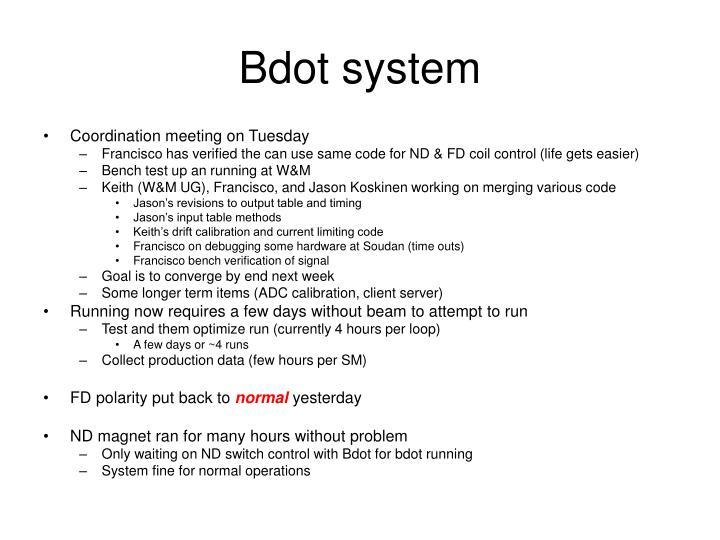 Bdot system